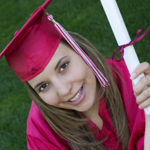 College graduate gets her diploma